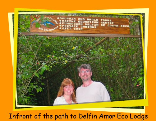 Mark infront of Delfin Amor sign
