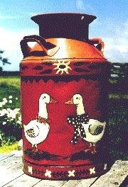 Milk can ducks