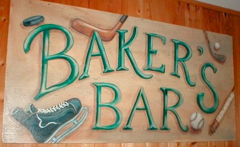 Baker's Bar Sign